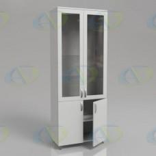 Шкаф для документов ЛДСП 2х-створчатый ШД2 на опорах 2100х800х400мм